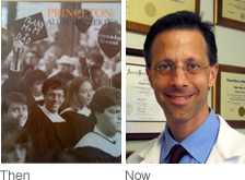 Dr. Tindel at Princeton and Now.